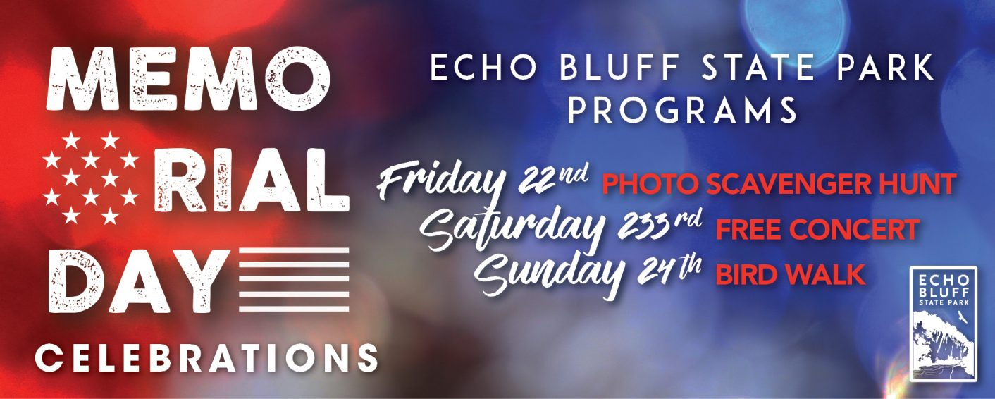 Echo bluff memorial weekend banner 2020